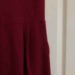 Jack Wills Dresses - Jack Wills Pleated Burgundy Dress